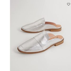 NEW Free People metallic Silver Loafer slip on